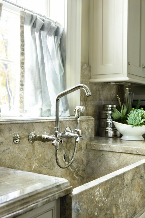 Granite Laundry Sink : Granite Apron Sink - Transitional - kitchen - Precision Stoneworks