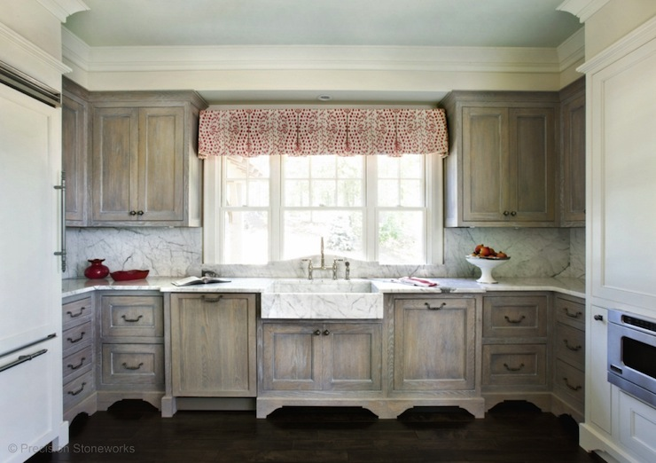Wire Brushed Oak Cabinets Country Kitchen Precision