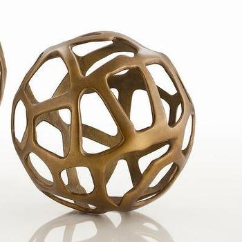 Decor/Accessories - ARTERIORS Home Ennis Web Sphere | Wayfair - antique, brass, web, sphere,