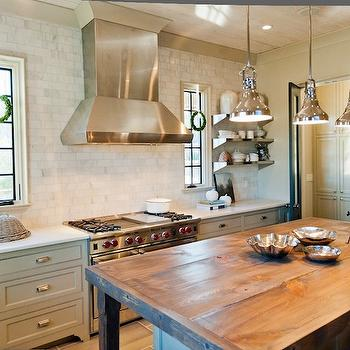 Rustic Butcher Block Kitchen Island, Country, kitchen, Christopher Architects