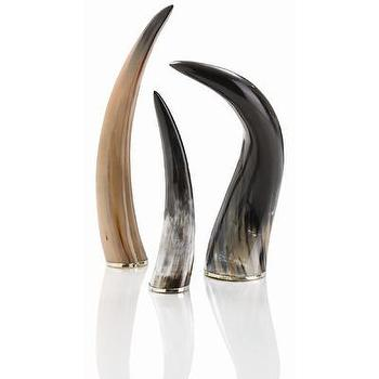 Decor/Accessories - ARTERIORS Home Bernard Authentic 3 Piece Horn Set | Wayfair - horn, ornaments, natural, authentic,