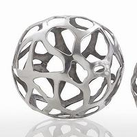 Decor/Accessories - ARTERIORS Home Ennis Web Sphere | Wayfair - polished, nickel, web, sphere,