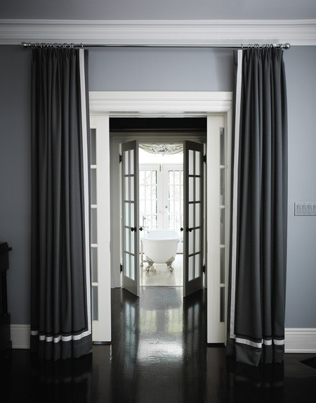 Grosgrain Curtains - Transitional - bedroom - House and Home