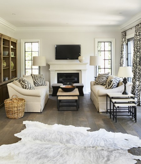 Fireplace Rug Ideas: Face To Face Sofas