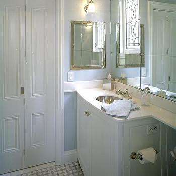 Bi-Fold Bathroom Doors, Transitional, bathroom, Tish Key Interior Design