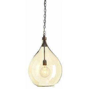 Lighting - ARTERIORS Home Raleigh 1 Light Pendant | Wayfair - brass, glass, pendant,