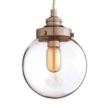 Lighting - ARTERIORS Home 1 Light Mini Pendant | Wayfair - glass, pendant, polished, nickel, industrial, orb,
