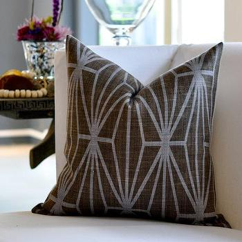 Pillows - Kelly Wearstler Katana pillow cover by woodyliana I Etsy - brown, lilac, geometric, pillow,