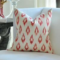 Pillows - Schumacher KERALA Ikat pillow cover by woodyliana I Etsy - crimson, cream, pillow, ikat,