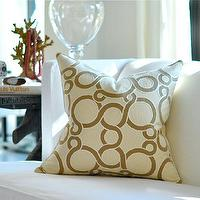 Pillows - CONUNDRUM pillow cover by woodyliana I Etsy - beige, cream, link, swirl, pillow,