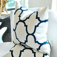 Pillows - Windsor Smith RIAD pillow cover by woodyliana I Etsy - indigo, blue, trellis, pillow, white,