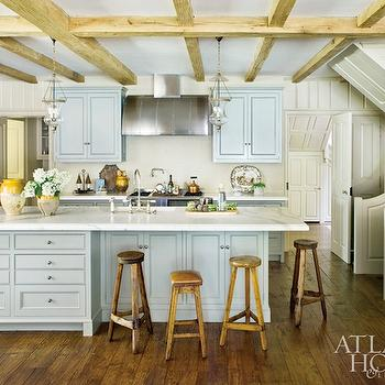 Farmhouse Kitchen Cabinets, Country, kitchen, Farrow & Ball Pigeon, Atlanta Homes & Lifestyles