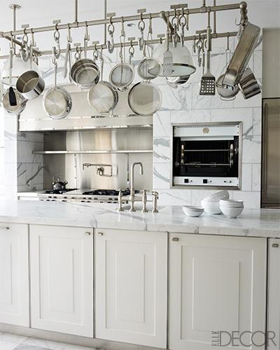 Gourmet galley kitchen transitional kitchen elle decor - Elle decor kitchens ...