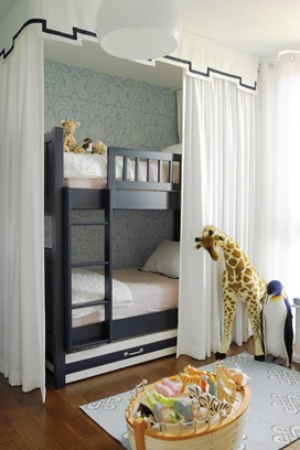 Bunk Bed Curtains, Eclectic, girl's room, Hillary Littlejohn Scurtis