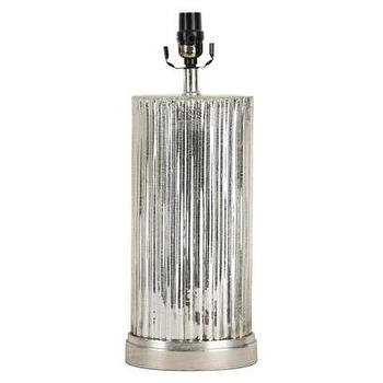 Lighting - Threshold Lamp Base Collection : Target - ridged, mercury, glass, silver, lamp, base,