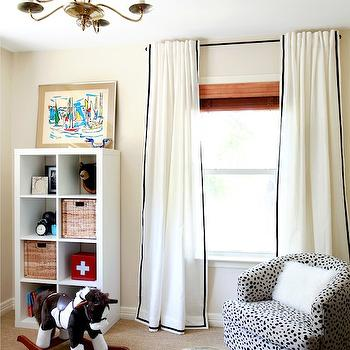 Ikea Window Treatments, Vintage, nursery, Benjamin Moore Frappe, Design Crisis