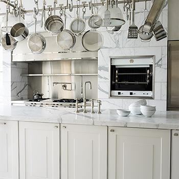 Gourmet Galley Kitchen, Transitional, kitchen, Elle Decor