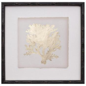 Gold Leaf Coral IV, Zinc Door