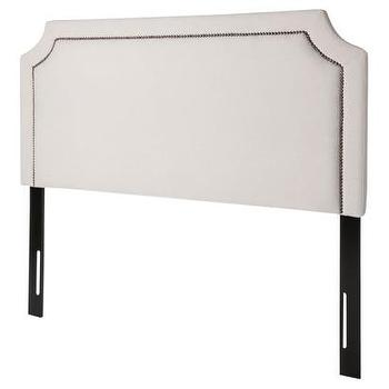 Beds/Headboards - Tan Nailhead Headboard : Target - upholstered, headboard, cream, pewter, nailhead,