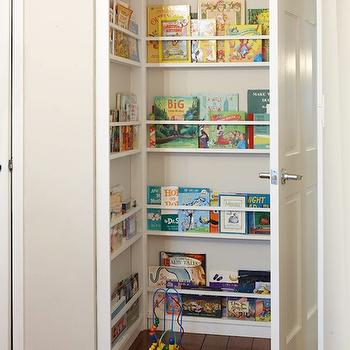 Hidden Children's Bookcase -Transitional, nursery, Design Sponge
