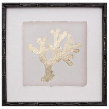 Gold Leaf Coral II, Zinc Door
