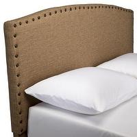 Beds/Headboards - Burlap Headboard with Nailheads : Target - burlap, tan, headboard, nailhead, brass,