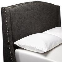 Beds/Headboards - Grey Wingback Upholstered Headboard Full/Queen : Target - gray, wingback, upholstered, headboard, nailhead, silver,