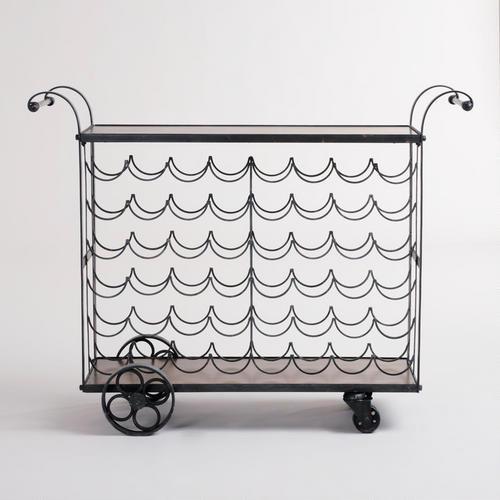 sloane wine bottle bar cart world market. Black Bedroom Furniture Sets. Home Design Ideas