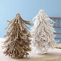 Miscellaneous - Twisted Burlap Trees | Ballard Designs - burlap, Christmas, trees,