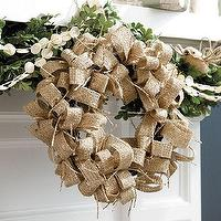 Miscellaneous - Set of 2 Burlap Wreaths | Ballard Designs - burlap, wreath,