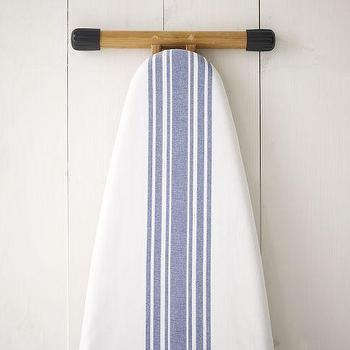 Decor/Accessories - Cotton Ironing Board Cover - Cafe Stripe | west elm - blue striped ironing board, board, cover, blue striped,