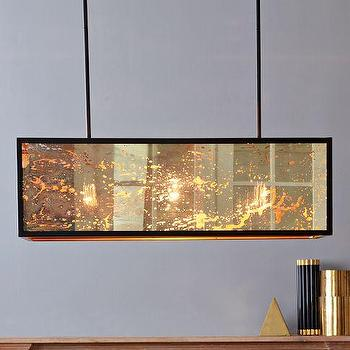 Lighting - Panorama Chandelier | west elm - retro chandelier, chandelier, mercury glass, panels, vintage chandelier,