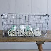 Decor/Accessories - Wire Mesh Storage - Rectangular Tray | west elm - wire, mesh, storage, basket, mesh basket, french basket, stainless steel,