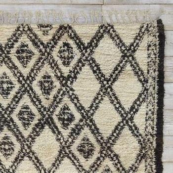 Rugs - Found Moroccan Berber Rug - Bolded Diamonds | west elm - berber rug, Moroccan rug, diamond rug, black and cream rug,