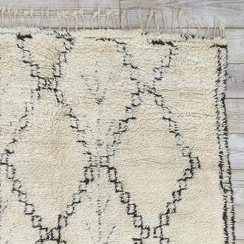 Rugs - Found Moroccan Berber Rug - 15 Diamonds | west elm - Moroccan rug, cream and black rug, berber rug, diamond print rug,