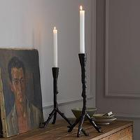 Decor/Accessories - Cast Metal Branch Taper Holder | west elm - branch candleholders, taper holders, branch taper holders,