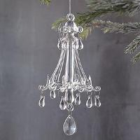 Miscellaneous - Elaborate Chandelier Ornament | west elm - glass ornament, chandelier ornament,
