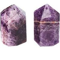 Miscellaneous - Amethyst Salt and Pepper Shaker - purple, tabletop
