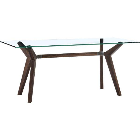 Tables Strut Dining Table I Crate And Barrel Glass Topped Dining