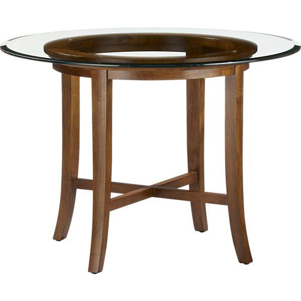 Dining Table Furniture Crate Barrel Round Dining Table