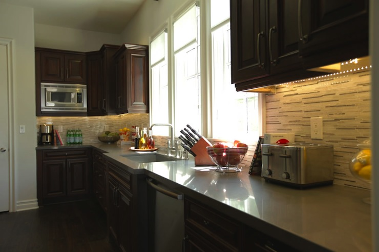 Dark Kitchen Cabinets Contemporary Kitchen Jeff