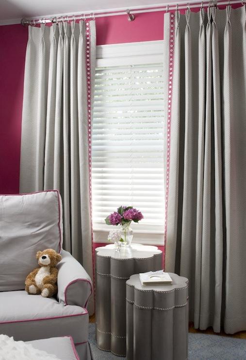 Pink And Gray Nursery Design Contemporary Nursery Benjamin Moore Peony Liz Carroll Interiors