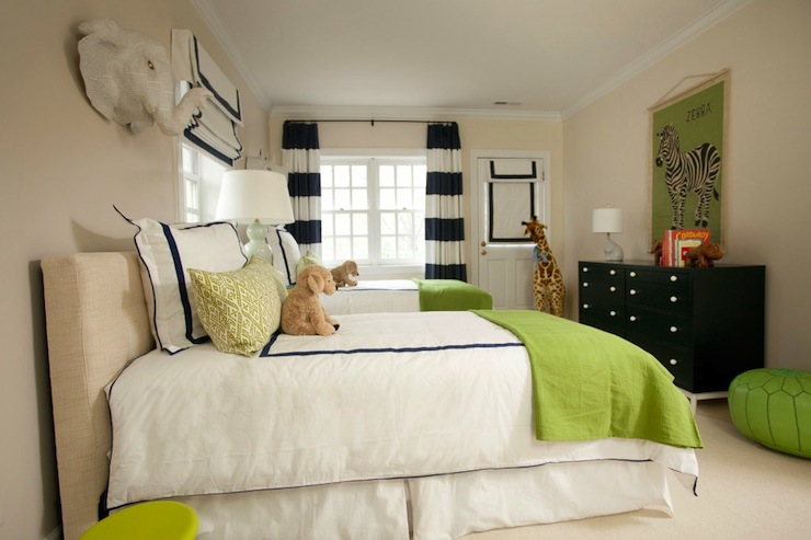 Blue green and tan boys 39 bedroom contemporary boy 39 s for Blue and green boys bedroom ideas