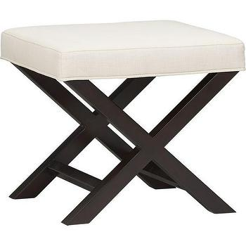 X-Base Bench-Vanity Stool, Crate and Barrel