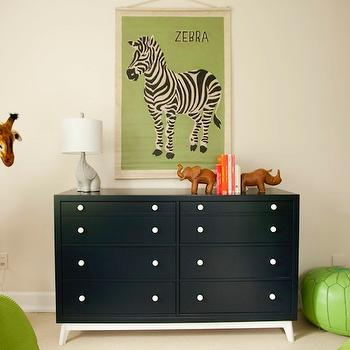 Green and Black Boys' Bedroom, Contemporary, boy's room, Liz Carroll Interiors