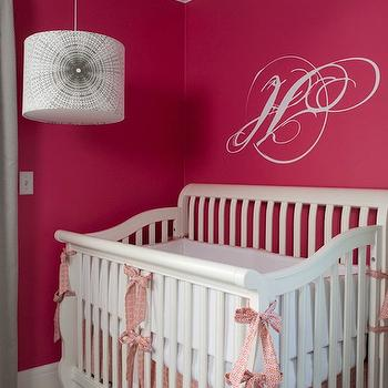 Hot Pink Nursery, Contemporary, nursery, Benjamin Moore Peony, Liz Carroll Interiors