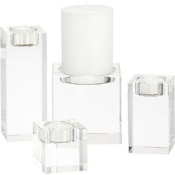 Oslo Crystal Candleholders, Crate and Barrel