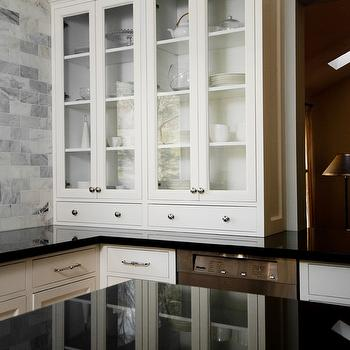 Glass Front Kitchen Cabinets, Traditional, kitchen