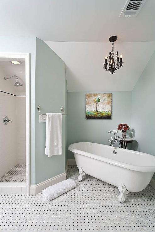 Chandelier Over Tub French Bathroom Renewal Design Build