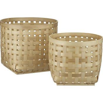 Decor/Accessories - Santoso Baskets | Crate and Barrel - round baskets, woven round baskets, woven bamboo baskets, bamboo baskets,